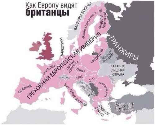 Альтернативная карта Европы глазами жителей пяти стран (5 фото)