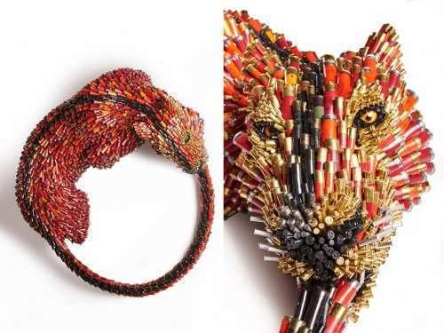 Трофеи животных из гильз от Федерико Урибе (15 фото)