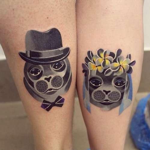 Парные свадебные татуировки (12 фото)