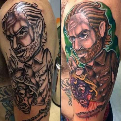 "Татуировки на тематику ""Ходячих мертвецов"" (21 фото)"