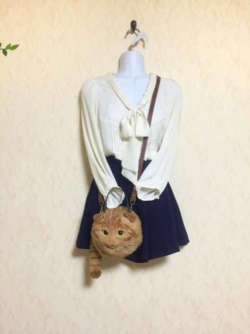 Реалистичные сумки в виде кошек: жуть или крутотень? (10 фото)