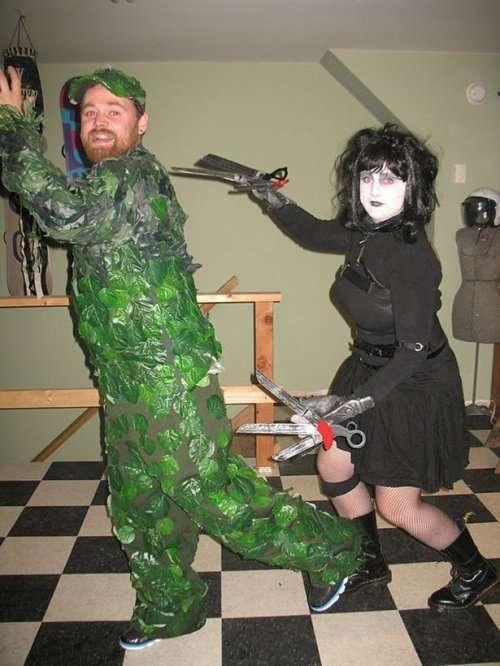 Парные костюмы на Хэллоуин (23 фото)