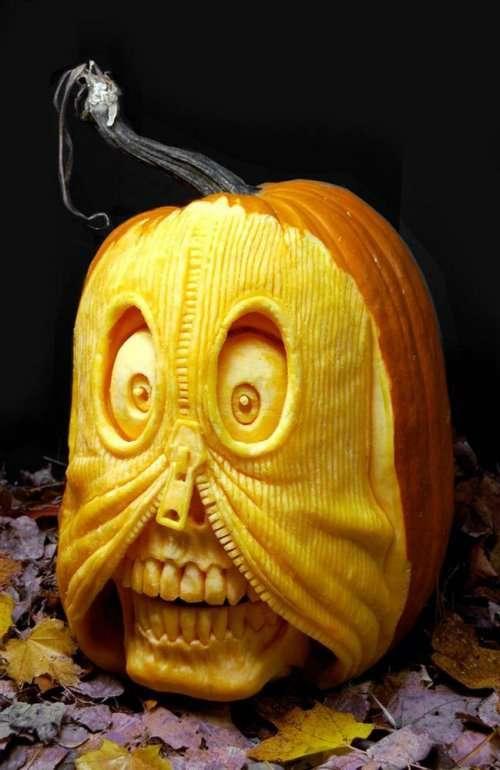 Карвинг по тыкве, или Оригинальные Светильники Джека на Хэллоуин (20 фото)