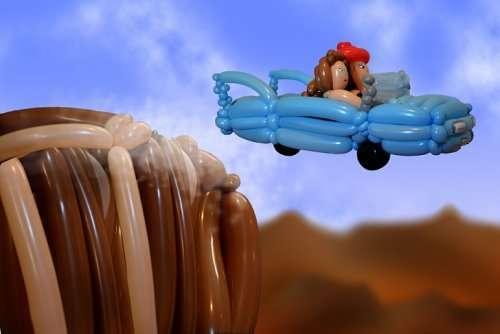 Сцены из фильмов из воздушных шариков (16 фото)