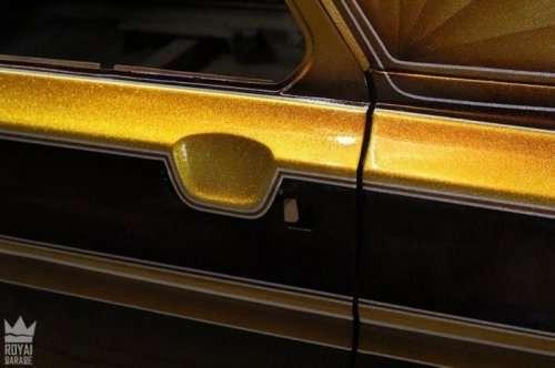 """Лоурайдер """"Golden Rose"""", переделанный из Волги (25 фото)"""
