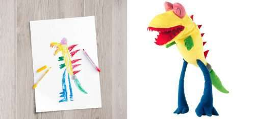 Мягкие игрушки от IKEA, созданные по детским рисункам (10 фото)