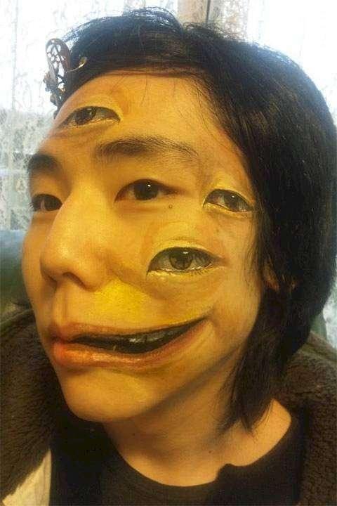 Женский грим на Хэллоуин (13 фото)