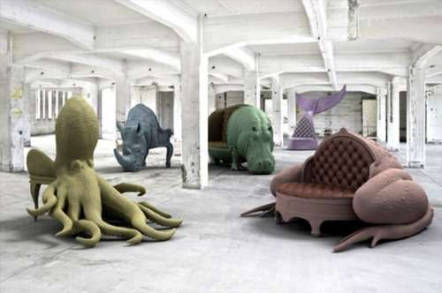 Кресла в виде животных от Максимо Риеры (8 фото)