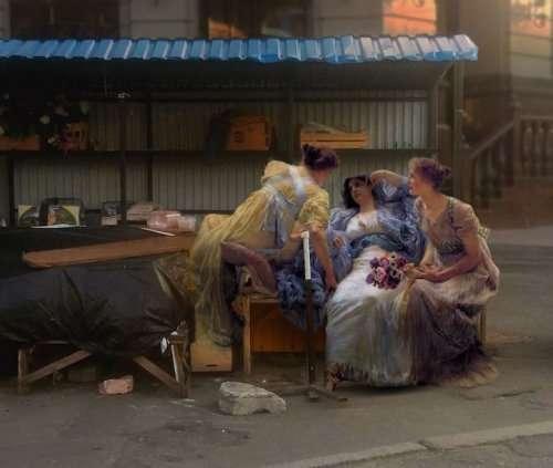 С полотен классических картин — в современную жизнь (15 фото)