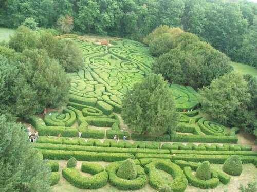 Удивительные лабиринты из живой изгороди (9 фото)