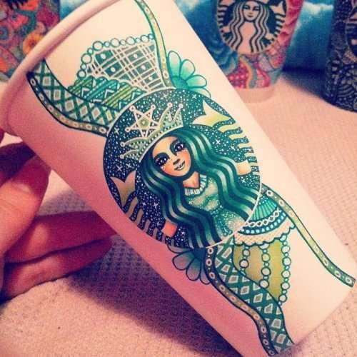 Раскрашенные стаканчики Starbucks (6 фото)