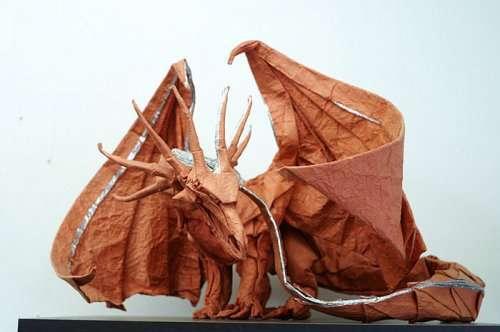 Потрясающие творения оригами (16 фото)
