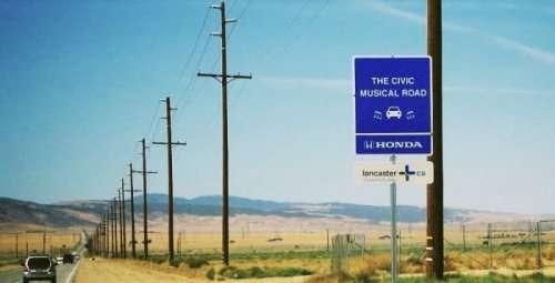 Дороги, издающие мелодию (6 фото + 3 видео)