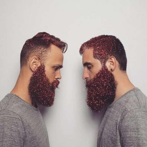 Новый тренд в Instagram: бороды в блёстках (21 фото)