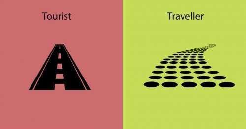В чём разница между туристом и путешественником? (15 фото)