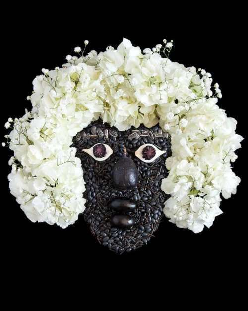 """Растительные портреты в проекте """"Свежие лица"""" Эмили Драйден (10 фото)"""