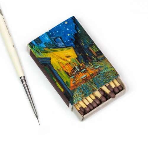 Картины Ван Гога, воссозданные на спичечных коробках (7 фото)