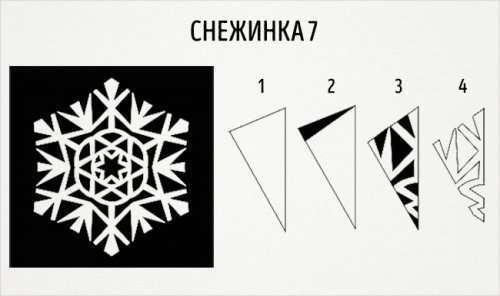 Вырезаем снежинки из бумаги (21 фото)