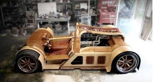Деревянный суперкар Splinter (9 фото)