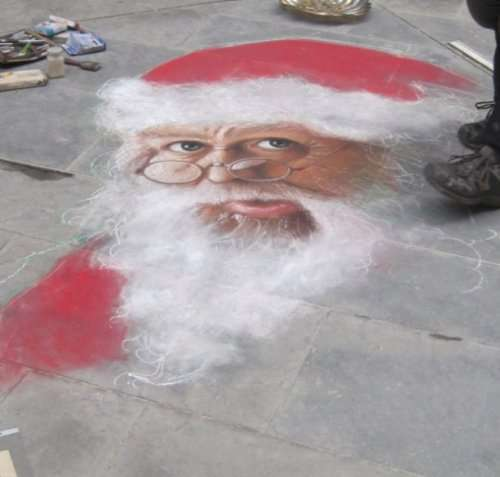 Рождественский стрит-арт (17 фото)