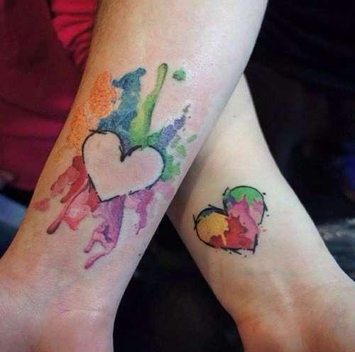 Парные татуировки для мам и дочерей (37 фото)