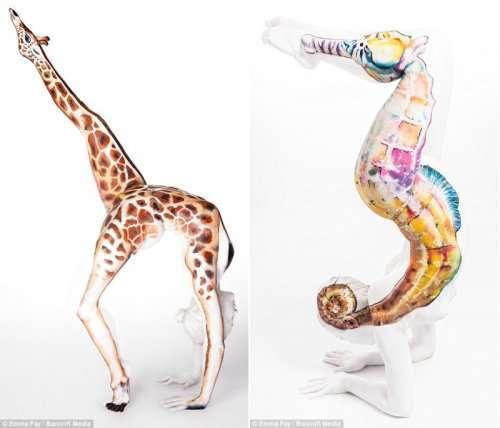 Боди-арт британской художницы Эммы Фей (12 фото)