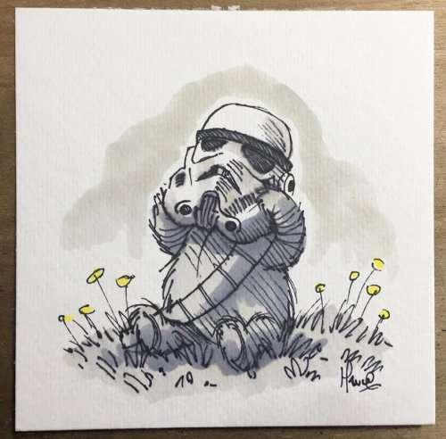 """Что бывает, когда художнику нравятся """"Звёздные войны"""" и """"Винни-Пух"""" (14 фото)"""