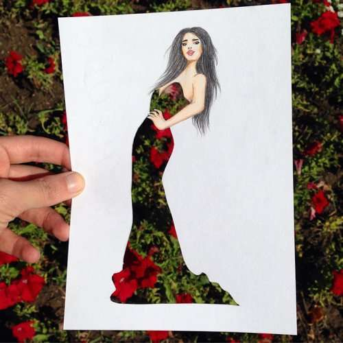 Модные силуэты фэшн-иллюстратора Эдгара Артиса (34 фото)