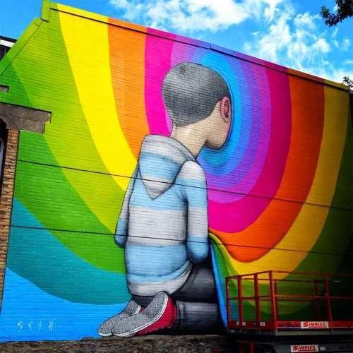 Стрит-арт парижского художника Жульена Малланда (26 фото)