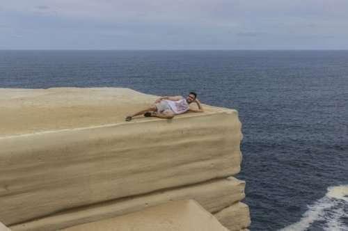 Скала в Австралии, похожая на свадебный торт (5 фото)