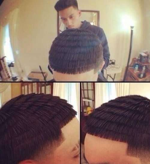 Необычные и причудливые стрижки и причёски (21 фото)
