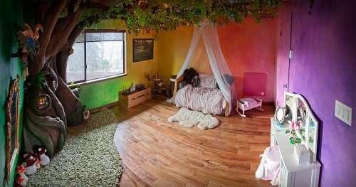 Волшебное дерево в комнате любимой дочери (12 фото)