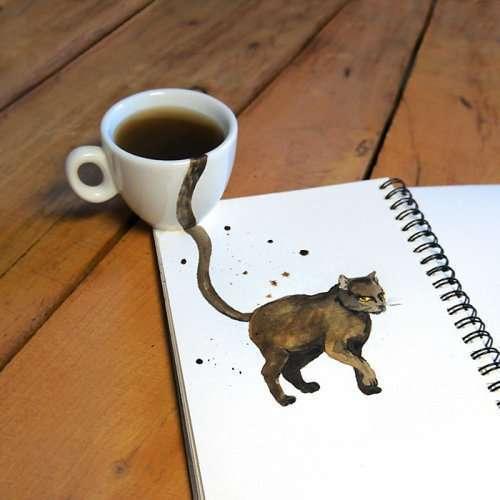 Кофейные кошки Елены Ефремовой (7 фото)