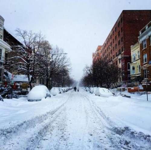 Нью-Йорк под снегом (31 фото)
