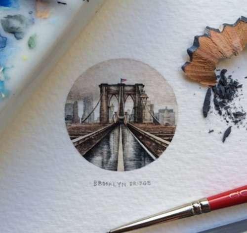 Миниатюрные рисунки Лорейн Лутс (33 фото)