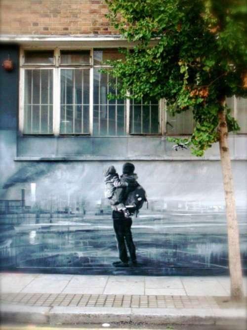 Стрит-арт на улицах городов мира (24 фото)