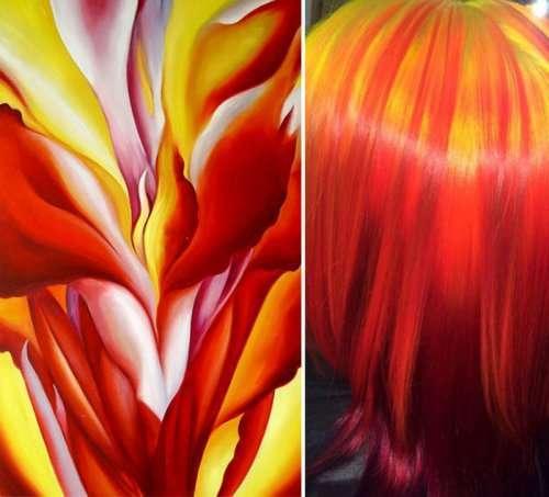 Парикмахер окрашивает волосы своих клиентов, вдохновляясь знаменитыми картинами (8 фото)