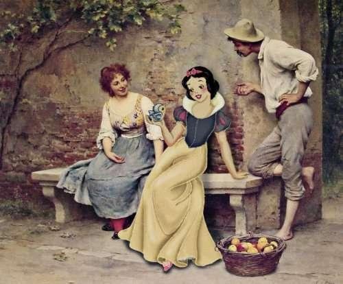 Мультперсонажи на классических картинах (21 фото)