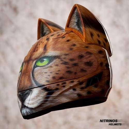 Мотоциклетные шлемы для любителей котиков (8 фото)