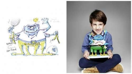Игрушки, сделанные по детским рисункам (6 фото)