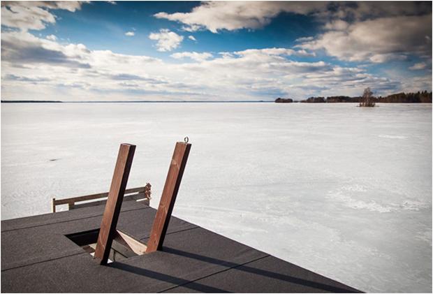 Финская сауна на воде Интересное