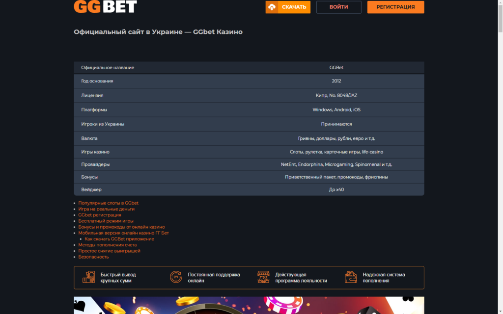 Какое онлайн-казино выбрать? gg bet промокод